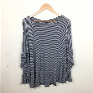 LOFT Plus Striped Long Sleeve Top 16/18